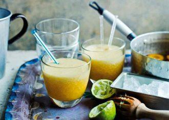 Cocktail cu caise si lamai verzi
