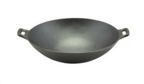 Tigaie wok din fonta cu manere detasabile
