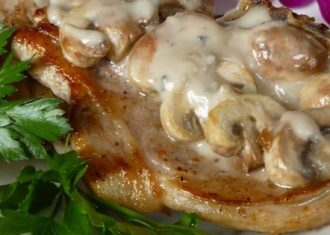 Friptura de porc cu ciuperci
