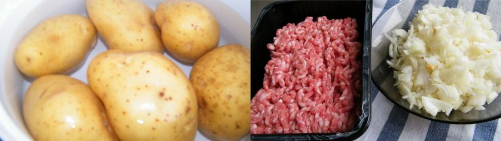 musaca cu cartofi - pregatirea