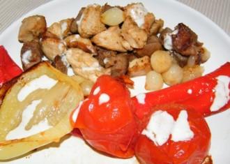 Carne si legume la tigaie Dry Cooker