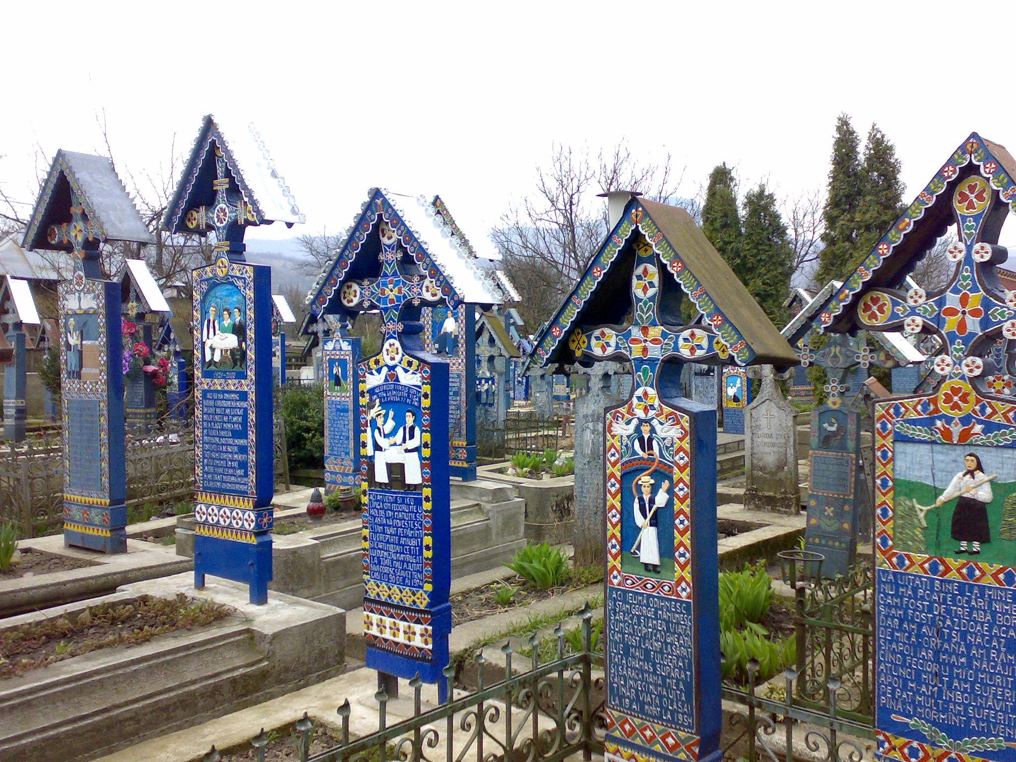 Cimitirul Vesel de la Săpânța, sursa wikipedia