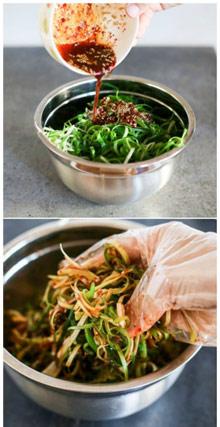 Salata picanta de ceapa, foarte indragita in Corea. Foto: pinterest.com