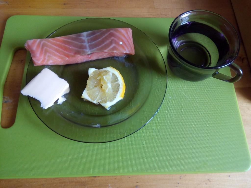 Ingrediente pentru somonul în sos de unt
