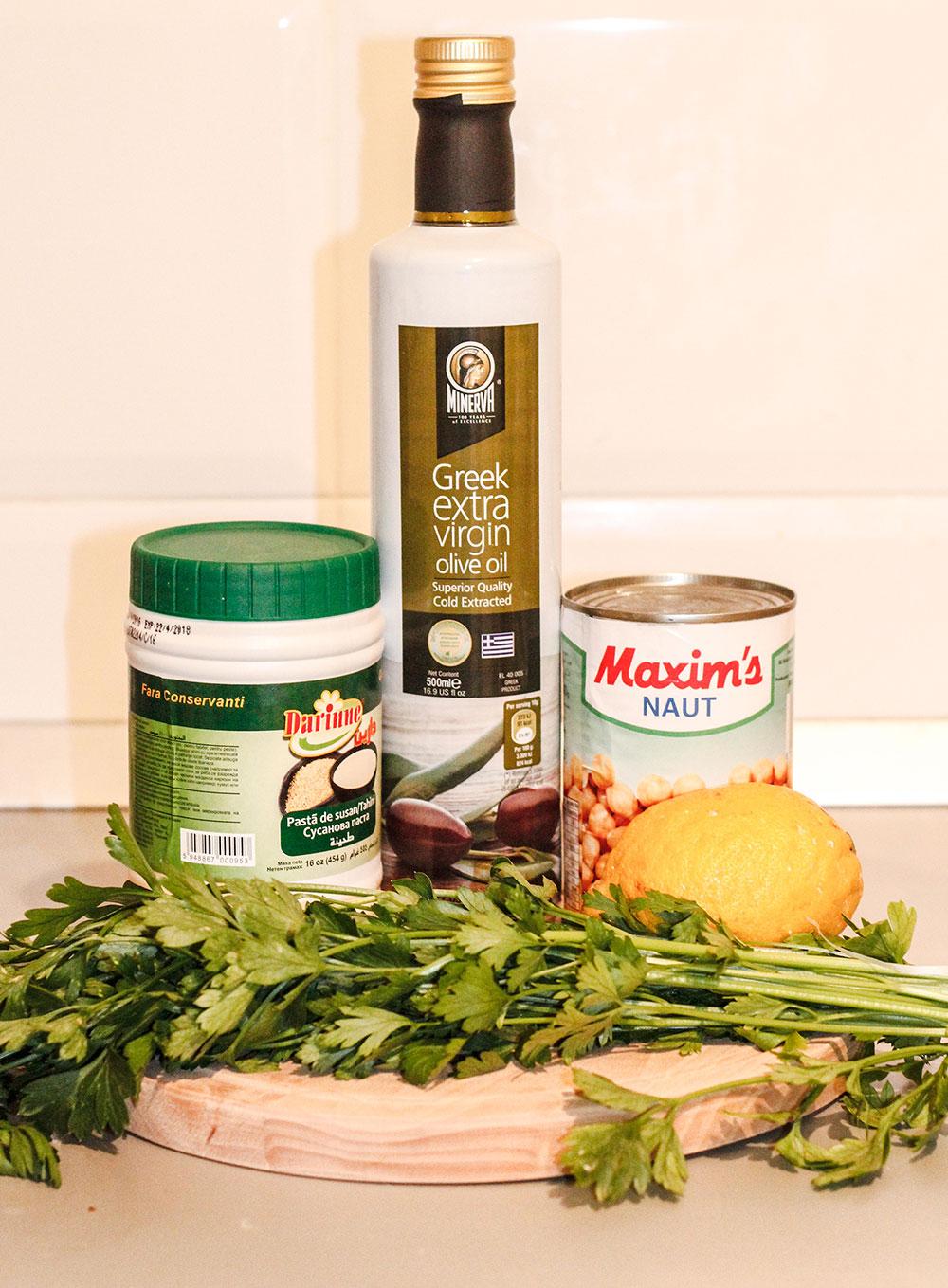Ingrediente pentru humus