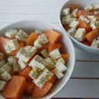 Salata de pepene galben, Feta si jambon