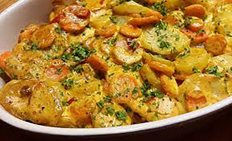 Mancare de morcovi si cartofi