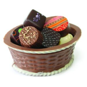 Cosulet din ciocolata cu praline