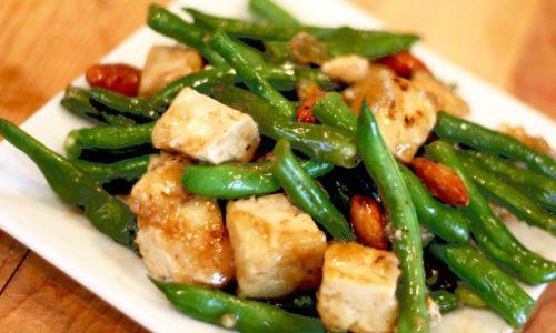 Tofu si fasole verde