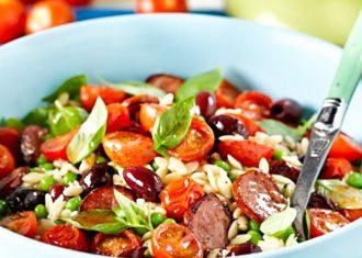 Salata cu orez rece