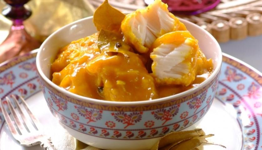 File de peste cu curry si smantana