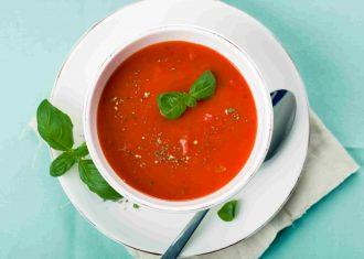Supa de rosii cu aroma de menta