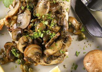 Peste cu ciuperci si capere
