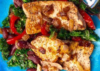 Salata de tofu cu fasole rosie