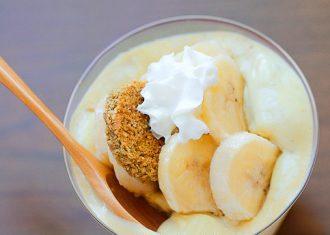 Spuma de banane cu iaurt de soia