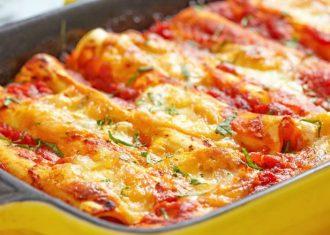 Cannelloni cu vita si sos de smantana