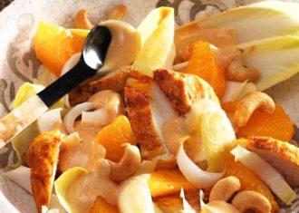 Salata de andive cu pui si portocale