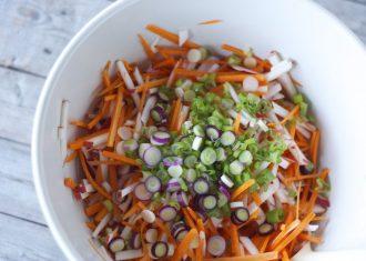 Salata de morcov, mar si gulii