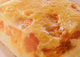 Prajitura pufoasa cu mandarine si brannza de vaci