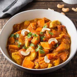 Piept de pui cartofi si curry