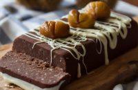 Salam de biscuiti cu glazura de ciocolata si castane