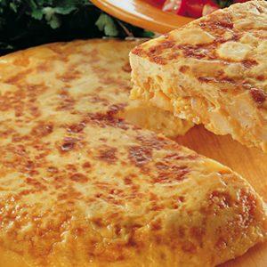 Omleta cu cartofi si oua spaniola