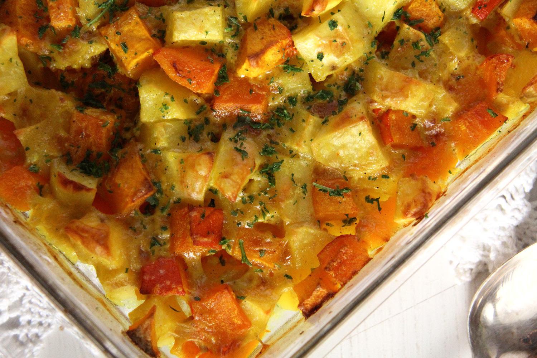 Cartofi cu dovlecel la cuptor