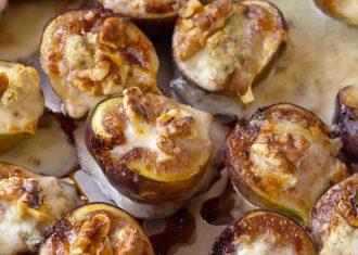 Smochine umplute cu gorgonzola si nuci