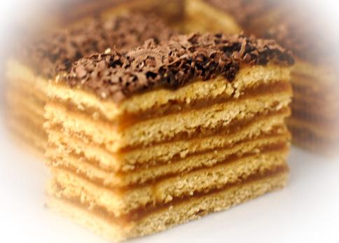prajitura de casa cu foi de miere si caramel