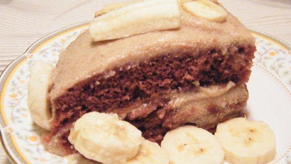 Tort de post cu crema de banane