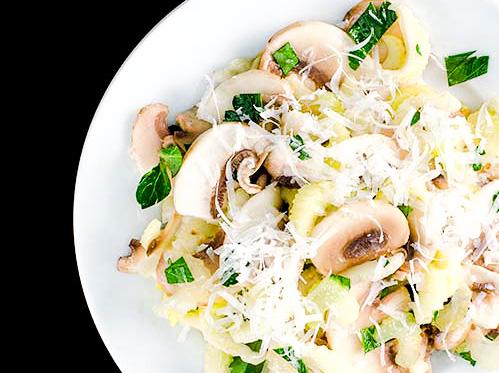 Salata italiana cu telina si ciuperci