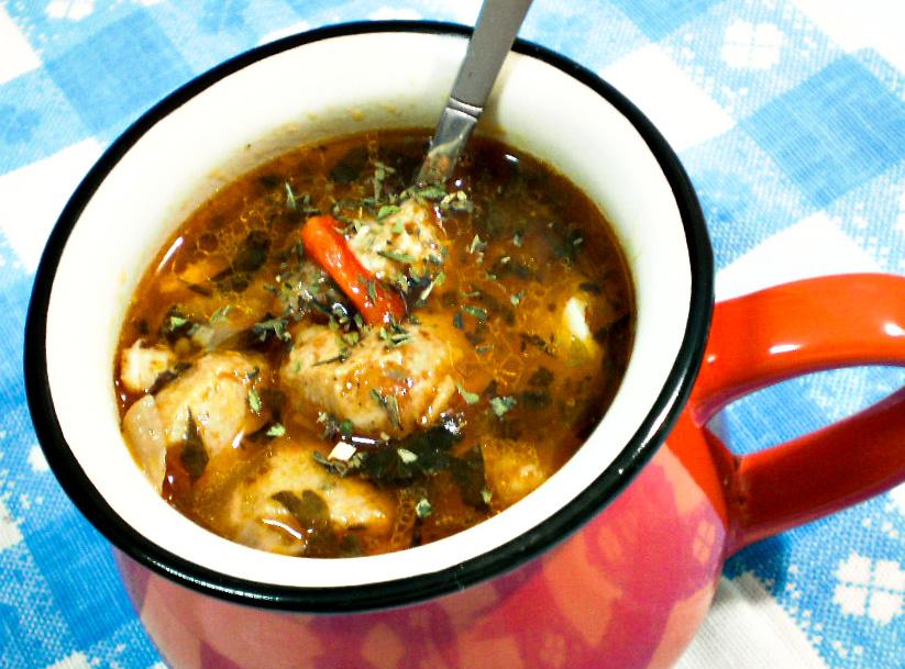 Ciorba cu legume si soia