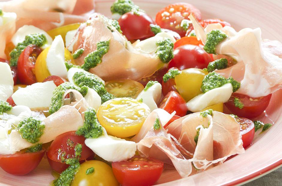 salata mozarella jambon